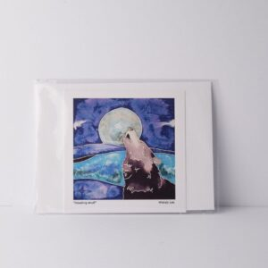 Wendy Lee Cards - Howling Wolf